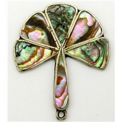 BEAUTIFUL MEXICO MARKED ABALONE PENDANT