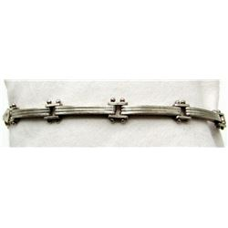 ANTIQUE STERLING LINK BRACELET