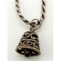 "18 INCH ITALY STERLING NECKLACE MARKED ""FAS"""