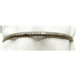 7 INCH STERLING BRACELET MARKED ITALY