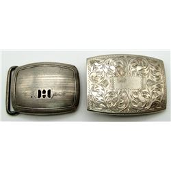 2-STERLING BELT BUCKLES WITH GORGEOUS DETAILS!