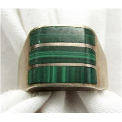 MEXICO SIZE 11 RING WITH GREEN FRONT