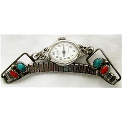 NAVAJO WATCH BAND WITH WATCH