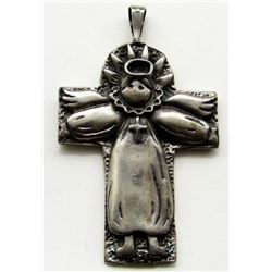 "3""ANGEL PENDANT STERLING SILVER"