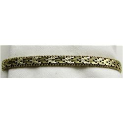 "STERLING BRACELET 6.5"" TOTAL 6.3 DWT"