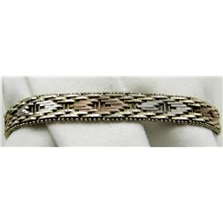 "7.5"" STERLING BRACELET TOTAL 11.8 DWT"