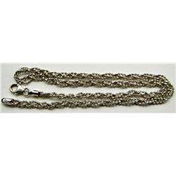 "16"" STERLING BRAIDED NECKLACE"