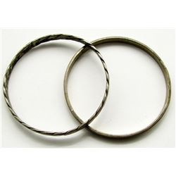 TWO STERLING MEXICO BRACELETS