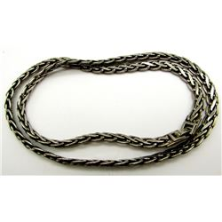 STERLING MEN'S CHAIN/NECKLACE WITH BRAIDED