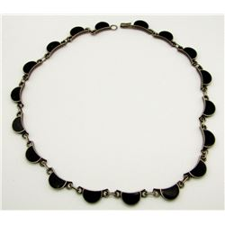 MEXICO STERLING NECKLACE WITH BLACK ONYX