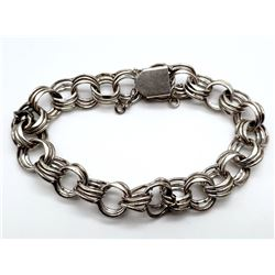 STERLING BRACELET WITH CIRCULAR LINKS