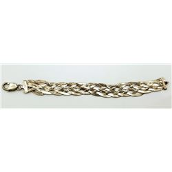 7 INCH ITALY STERLING THICK BRACELET WITH