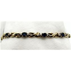 7 INCH BRACELET WITH DEEP BLUE AND CLEAR