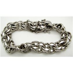 THICK AMERICAN STERLING BRACELET WITH