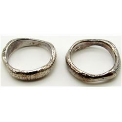 2-STERLING RINGS WITH BEAUTIFUL ENGRAVED