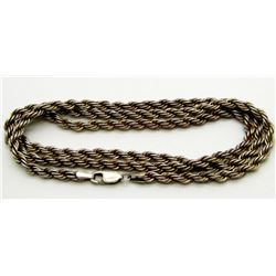 24 INCH STERLING BRAIDED CHAIN