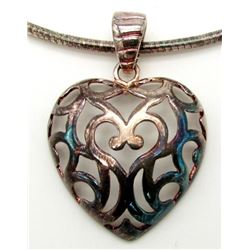 STERLING NECKLACE/CHAIN WITH HEART PENDANT