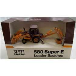 VINTAGE CASE 580 SUPER E LOADER BACKHOE DIECAST