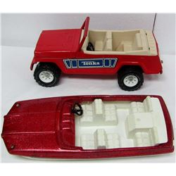 VINTAGE TONKA JEEPSTER & SPEED BOAT TOY