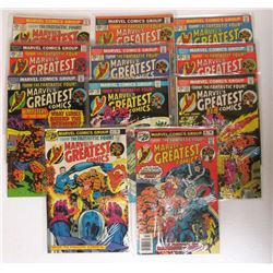 13-MARVEL'S GREATEST COMICS 25c ISSUES