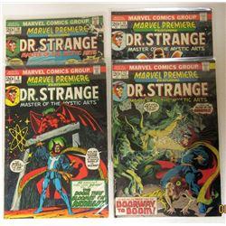 4-MARVEL DR. STRANGE COMIC BOOKS