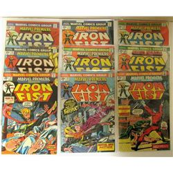 9-MARVEL IRON FIST COMIC BOOKS