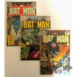 BATMAN 20c ISSUE #250, #252, #253