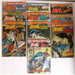 10-1972 & 1973 BRAVE and BOLD BATMAN COMICS