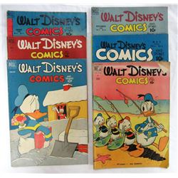 LOT OF 6 WALT DISNEY'S COMICS AND STORIES
