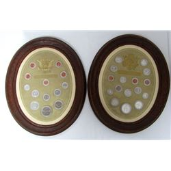 2-OVAL FRAMED COIN COLLECTIONS