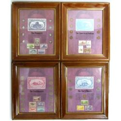 4-FRAMED COIN COLLECTION