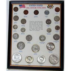 20TH CENTURY TYPE COINS w/BU 1896 MORGAN