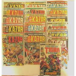 12-MARVEL KA-ZAR COMIC BOOKS #10-#20,#5