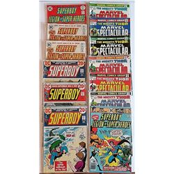 7-SUPERBOY COMIC BOOKS 20c COVERS