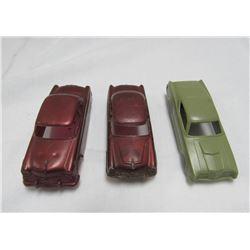 VINTAGE MOLDED CARS (2) F&F MOLD & DIE CO