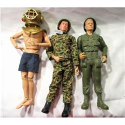 1960'S HASBRO & MARX GI JOE LOT -FOOTLOCKER