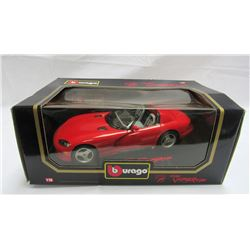 1992 DODGE VIPER RT/ 10 IN A RED 1:18 SCALE