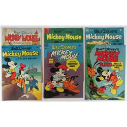 LOT OF 6 WALT DISNEY'S MICKEY MOUSE