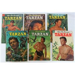 LOT OF 6 TARZAN COMIC BOOKS DELL VOL. 1