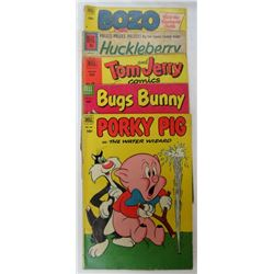LOT OF 5 DELL COMIC PORKY PIG, BUGS BUNNY ETC