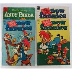 4 WALTER LANTZ (3) NEW FUNNIES + (1) ANDY PANDA