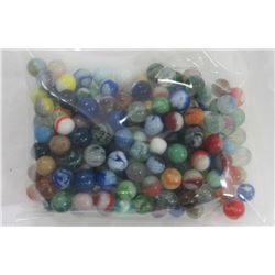 VINTAGE AND ANTIQUE MARBLES LOT OF ROUGHLY 2LB