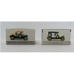 DIECAST ANTIQUE TOY CARS SIMPLEX & FORD MODEL T