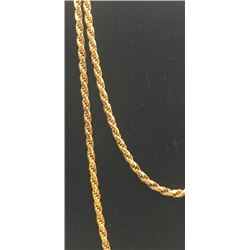 GOLD FILLED ITALY STERLING LONG NECKLACE/CHAIN