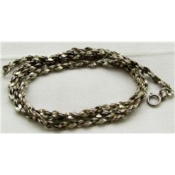 22 INCH STERLING NECKLACE/CHAIN WITH A