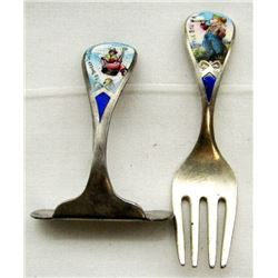 LITTLE BOY BLUE STERLING DECORATIVE FORK AND
