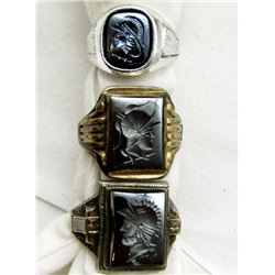 3-MEN'S 925 RINGS WITH GORGEOUS DESIGNS