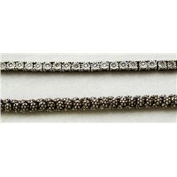 2-7 INCH STERLING BRACELETS WITH GEM STONE