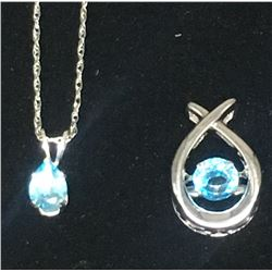 STERLING NECKLACE WITH (2)PENDANTS