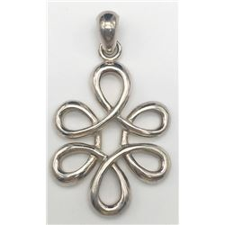 STERLING BARSE PENDENT WITH CUT OUT DESIGN